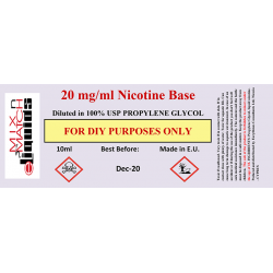 10 ml Nicotine at 20 mg/ml concentration in PG