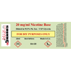 10ml Nicotine at 20 mg/ml concentration in VG