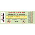 10ml Nikotin på 20 mg / ml koncentration i VG